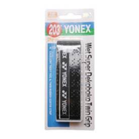 ヨネックス YONEX バドミントンアクセサリー ウェットスーパーデコボコツイングリップ AC134  (ブラック)