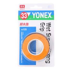 ヨネックス YONEX グリップテープ ウェットスーパーストロンググリップ(3本入) AC135 (ブライトオレンジ)