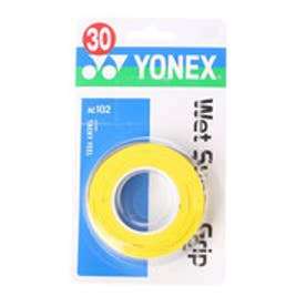 ヨネックス YONEX グリップテープ ウエットスーパーグリップ(3本入) AC102 (イエロー)