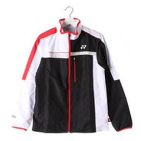 ヨネックス YONEX ユニセックス テニス ウインドブレーカー 裏地付ウィンドウォーマーシャツ 70052  (ブラック/レッド)