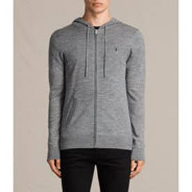MODE MERINO ZIP HOODY(Grey Marl)