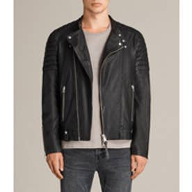 JASPER LEATHER BIKER(Black)