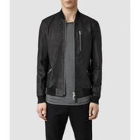 UTILITY LEATHER BOMBER(Black)