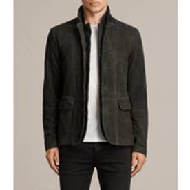 SURVEY LEATHER BLAZER(ANTHRACITE GREY)