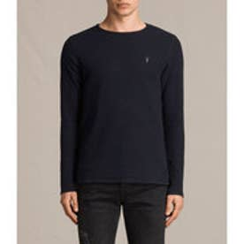 CLASH LONG SLEEVED CREW T-SHIRT(INK NAVY)