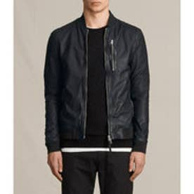 KINO LEATHER BOMBER(INK NAVY)