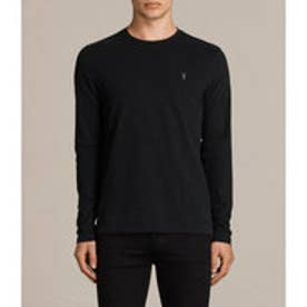 BRACE LONG SLEEVE TONIC CREW T-SHIRT(Jet Black)