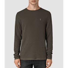 CLASH LONG SLEEVED CREW T-SHIRT (Pewter Brown)