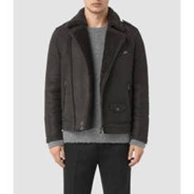 KARSON SHEARLING BIKER JACKET (ANTHRACITE GREY)