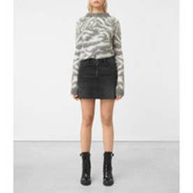 JASPER DENIM ZIP SKIRT (Black)