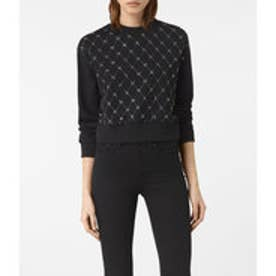 WIRE CROPPED SWEAT (Washed Black)