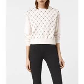WIRE CROPPED SWEAT (OYSTER WHITE)