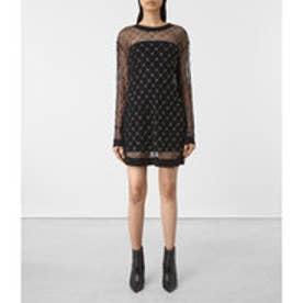 WIRE LONG SLEEVE DRESS (Black)