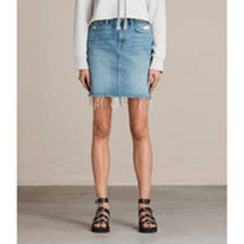 KIM DENIM SKIRT (LIGHT INDIGO BLUE)