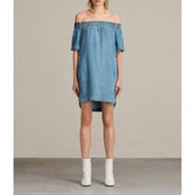 ZOE DRESS (MID INDIGO BLUE)
