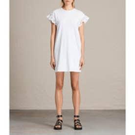 TRIXI RUFFLE DRESS (Chalk White)