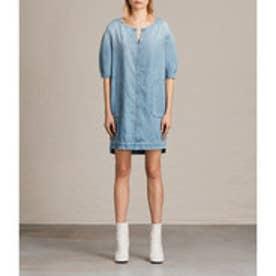 SHERRI DRESS (MID INDIGO BLUE)