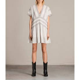 CYNDI TEE DRESS (Chalk White)