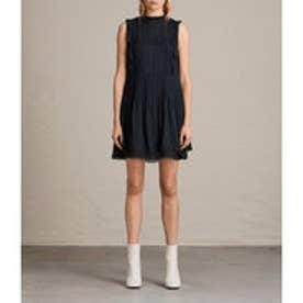 EVELINA RUFFLE DRESS (Black)