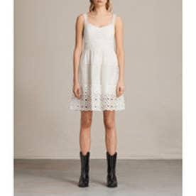 JANEY TIER DRESS (Chalk White)