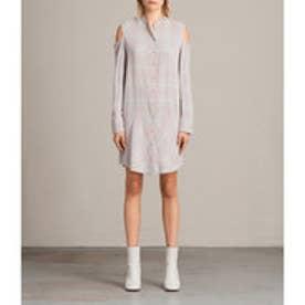 FLORIA CHECK DRESS (Pearl)