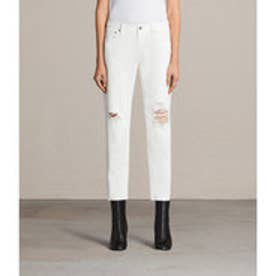 新着アイテム MUSE SLIM DESTROY JEANS (Chalk White)