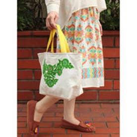 【チャイハネ】メキシカン刺繍ミニトートバッグ グリーン