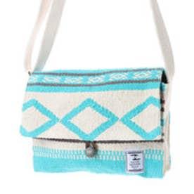 【チャイハネ】HAND WOVEN RUGS メキシカン柄織りショルダーバッグ ターコイズブルー