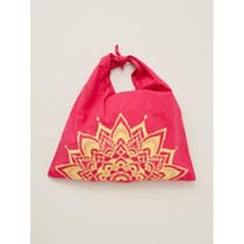 【チャイハネ】曼荼羅柄あずま袋 三角バッグ ピンク