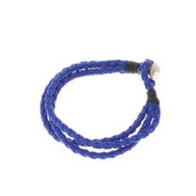 【チャイハネ】牛革シンプルレザーブレスレット ブルー