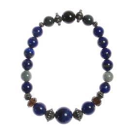 【チャイハネ】ビマー天然石ブレスレット ブルー