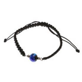 【チャイハネ】深海ブルー ほたる玉ブレスレット ブラック