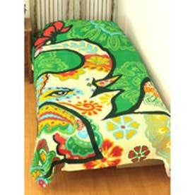 【チャイハネ】パオパオベッドカバー シングルサイズ グリーン