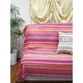【チャイハネ】虹色ベッドカバー シングルサイズ ピンク