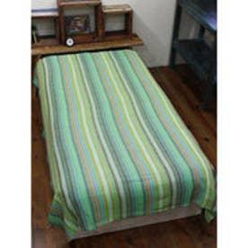 【チャイハネ】虹色ベッドカバー シングルサイズ グリーン