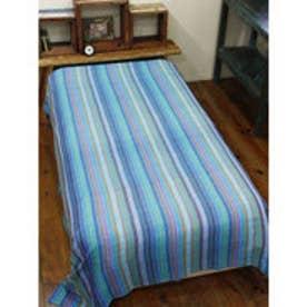 【チャイハネ】虹色ベッドカバー シングルサイズ ブルー