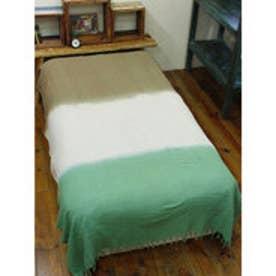 【チャイハネ】3カラーベッドカバー シングルサイズ グリーン