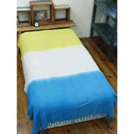 【チャイハネ】3カラーベッドカバー シングルサイズ ブルー