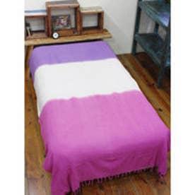 【チャイハネ】3カラーベッドカバー シングルサイズ ピンク