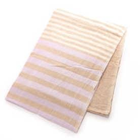 【チャイハネ】インド綿ボーダーベッドカバー シングルサイズ ブラウン