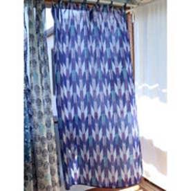 【チャイハネ】ブルーナカーテン約178cm ブルー