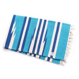 【チャイハネ】オルテガ柄アローラグマット150cm ブルー