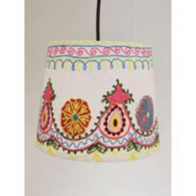 【チャイハネ】カシミール刺繍ランプ M ホワイト