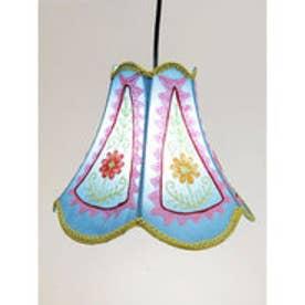 【チャイハネ】カシミール刺繍チューリップ型ランプ ブルー