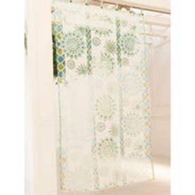 【チャイハネ】オパール加工マンダラグラスカーテン 約178cm グリーン