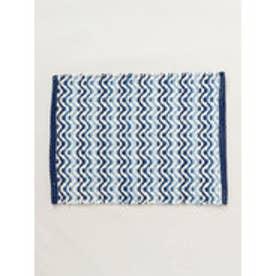 【チャイハネ】ウェイビーラグマット 約38×55cm ブルー