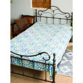 【チャイハネ】モロッコタイル柄ベッドカバーシングルサイズ その他3