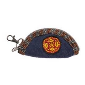 【チャイハネ】ネパール刺繍キーケース ネイビー