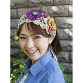 【チャイハネ】FLOWERクロッシュヘアバンド キナリ