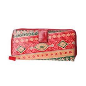 【チャイハネ】インド山羊革コルカタ長財布 レッド